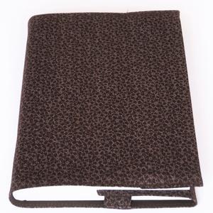 Textil könyvborító, Otthon & Lakás, Könyv- és füzetborító, Papír írószer, Designer pamutvászonból készült ez a mintás textil könyvborító. Mérete: 21,5x40 cm (kiterítve). A jo..., Meska
