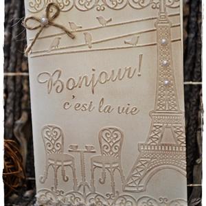 Vintage Párizs, Felirat, Dekoráció, Otthon & Lakás, Papírművészet, Párizs kedvelőknek, vagy bárkinek, akinek csak megtetszik! :-)\n\nMérete: 14,5 cm * 10,5 cm, Meska