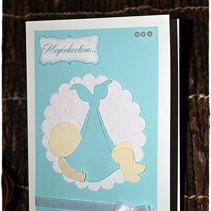 Megérkeztem Baba képeslap/ Meghívó - otthon & lakás - papír írószer - képeslap & levélpapír - Meska.hu