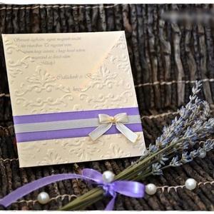 Levendula esküvői meghívó - esküvő - meghívó & kártya - meghívó - Meska.hu
