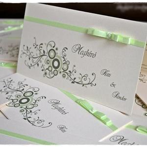 Ornamentes esküvői meghívó, Esküvő, Meghívó, ültetőkártya, köszönőajándék, Naptár, képeslap, album, Otthon & lakás, Képeslap, levélpapír, Papírművészet, Ornamentes esküvői meghívót készítettem!, Meska