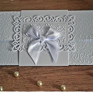 Indák és masni Pénzátadó lap/Esküvői meghívó/Keresztelő/Születésnap/Névnap, Esküvő, Nászajándék, Emlék & Ajándék, Papírművészet, Meska