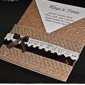 Vintage stílusú meghívó, Esküvő, Meghívó, Meghívó & Kártya, Papírművészet, Meska