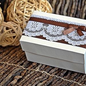 Csipkés Pénzátadó doboz , Esküvő, Nászajándék, Emlék & Ajándék, Papírművészet, Meska