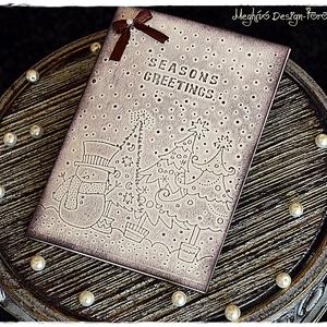 Antik karácsonyi képeslap, Otthon & Lakás, Képeslap & Levélpapír, Papír írószer, Papírművészet, Meska