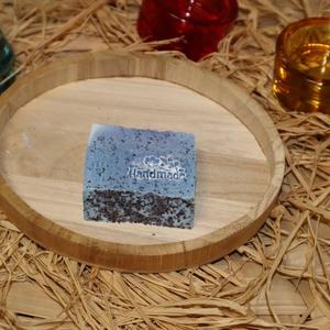 """Kék Lagúna szappan, Szépségápolás, Szappan & Fürdés, Szappan, Szappankészítés, A \""""Kék lagúna\"""" gyönyörű színével elkápráztatja a szemet, a belekevert máknak köszönhetően pedig fino..., Meska"""