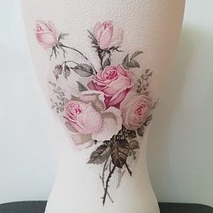 Vintage rózsás váza - Meska.hu