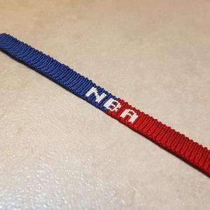 csomózott karkötő NBA, Ékszer, Karkötő, Csomózás, Csomózási technikával készült NBA karkötő egyedi kérésre.\n\nUgyanitt rendelhető csomózott karkötő egy..., Meska