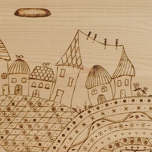 Pirográffal díszített fa eszközök (Tatek) - Meska.hu