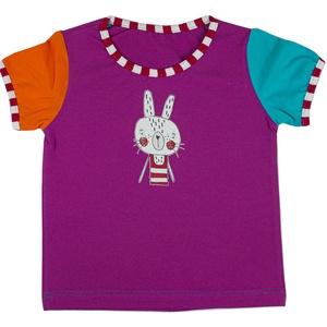 GRETA KISLÁNY PÓLÓ - nyuszi mintás egyedi póló, Ruha & Divat, Babaruha & Gyerekruha, Ruha, Varrás, 100% pamutból készült, egyedi gyártású, megrendelésre készülő színes kislány ruha.\nElérhető méretek:..., Meska