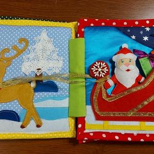 Textilkönyv. Játékkönyv. Karácsony. A gyermek fejlődéséhez., Játék & Gyerek, Textilkönyv & Babakönyv, Varrás, Hímzés, Játékkönyv. Karácsonyi téma.\nGyermekfejlődési könyv.\nSegít a figyelem, a finommotorika fejlesztésébe..., Meska