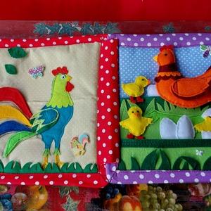 Textilkönyv. Játékkönyv. A gyermek fejlődéséhez. leírása., Játék & Gyerek, Textilkönyv & Babakönyv, Varrás, Patchwork, foltvarrás, Gyermekfejlődési könyv.\nSegít a figyelem, a finommotorika fejlesztésében, edzi a memóriát.\nSegít a s..., Meska