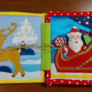 Karácsonyi babakönyv textilkönyv - Meska.hu