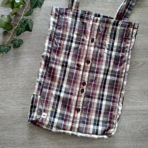 újrahasznosított ing táska, hosszú pánttal, elöl kis zsebbel, Táska & Tok, Bevásárlás & Shopper táska, Shopper, textiltáska, szatyor, Varrás, Újrahasznosított alapanyagból készült termékek, Valódi, újrahasznosított ingből varrt válltáska, elöl használható két kis zsebbel.\n~ Méret: 40*31cm\n..., Meska