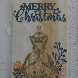Karácsonyi üdvözlőlap, Otthon & Lakás, Papír írószer, Képeslap & Levélpapír, Papírművészet, Egyedi, kézzel készült karácsonyi üdvözlőlap - két egyforma nem készül. Rendelésre hasonlót tudok mé..., Meska