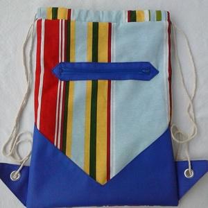Cipzáros kék hátizsák ,Gymbag, Táska, Táska, Divat & Szépség, Hátizsák, Varrás, Akció!Ez évi első vásárlómnak két bármely termékem vásárlása esetén a szállítást én fizetem az orszá..., Meska