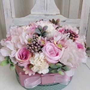 Rózsaszín virágbox,rózsabox (Tearozsa19) - Meska.hu