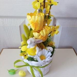 Húsvéti asztaldísz(sárga) (Tearozsa19) - Meska.hu