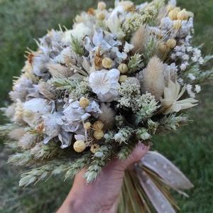 Natúr szárazvirág csokor, Otthon & Lakás, Dekoráció, Csokor & Virágdísz, Virágkötés, Többféle szárazvirágból kötöttem a csokrot,a természetes dekoráció kedvelőinek. Felhasználtam hozzá ..., Meska