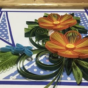 Quilling virág fa kerettel (Teniko87) - Meska.hu
