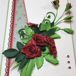 Esküvői quilling kép, Otthon & Lakás, Kép & Falikép, Dekoráció, Famegmunkálás, Papírművészet, Meska