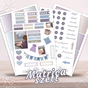 Matrica szett tervezőhöz – Ábránd, Képzőművészet, Otthon & lakás, Grafika, Illusztráció, Festészet, Fotó, grafika, rajz, illusztráció, Egyedi, hangulatos matrica szett, melyel igazán színessé varázsolhatod a terveződ.\n\nA szett tartalma..., Meska