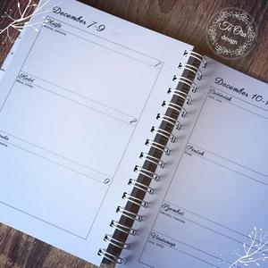2020 planner, kalendárium – TeOra Tervező A5 - határidőnapló (Teoradesign) - Meska.hu