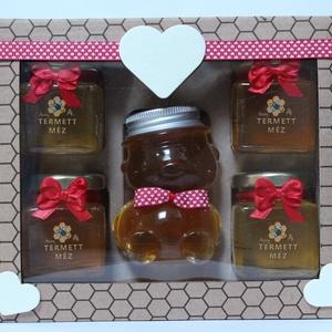 5-ös méz szett díszdobozban, Élelmiszer, Élelmiszer előállítás, A mézet mindenki szereti, ajándékba kapni pedig még jobban.\nLegyen bármilyen alkalom, ebből a díszdo..., Meska