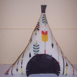 Indián sátor párna nyíl mintás kisebb méret (textilcseppek) - Meska.hu