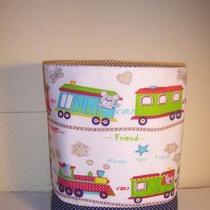 Készlet kisöprés!Textiltároló vonatos (textilcseppek) - Meska.hu