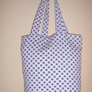 Fehér csillag mintás táska  (textilcseppek) - Meska.hu