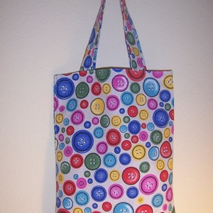 Készlet kisöprés! Gomb mintás kis táska normál füllel  (textilcseppek) - Meska.hu