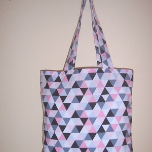 Háromszög mintás táska  (textilcseppek) - Meska.hu