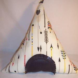 Készlet kisöprés!! Indián sátor párna  (textilcseppek) - Meska.hu