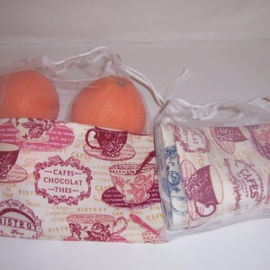 Textilzsák szett csészés (textilcseppek) - Meska.hu