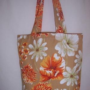Narancssárga rózsás táska  (textilcseppek) - Meska.hu