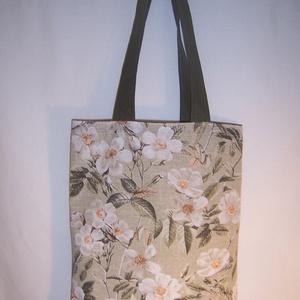 Virág mintás kis táska  (textilcseppek) - Meska.hu