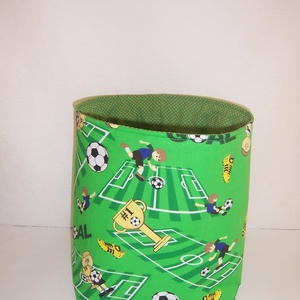 Készlet kisöprés! Textiltároló focipályás  (textilcseppek) - Meska.hu