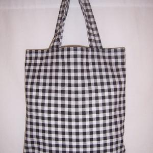Készlet kisöprés!Pepita mintás kis táska rövid füllel  (textilcseppek) - Meska.hu