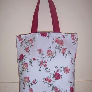 Rózsa virágos táska  (textilcseppek) - Meska.hu
