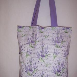 Levendula csokor mintás táska  (textilcseppek) - Meska.hu