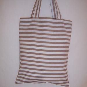 Készlet kisöprés!! Drapp csíkos kis táska rövid füllel (textilcseppek) - Meska.hu