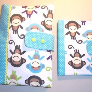 Készlet kisöprés!! Pelenkatáska majmos (textilcseppek) - Meska.hu