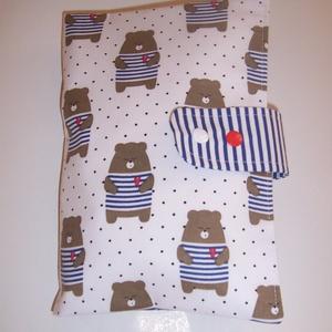 Készlet kisöprés! Pelenkatáska macis (textilcseppek) - Meska.hu