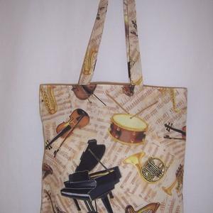 Hangszer mintás táska  (textilcseppek) - Meska.hu