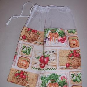 Textilzsák 3db-os szett zöldség mintás (textilcseppek) - Meska.hu