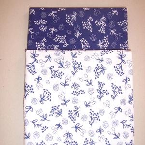 2 db textil szalvéta kékfestő mintás, NoWaste, Textilek, Kendő, Otthon & lakás, Konyhafelszerelés, Edényalátét, Varrás, Textil szalvétát készítettem kékfestő mintás és fehér kék mintás 100% pamutvászonból.\n\nEgyedivé tehe..., Meska