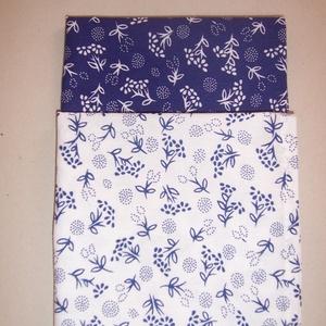2 db textil szalvéta kékfestő mintás (textilcseppek) - Meska.hu