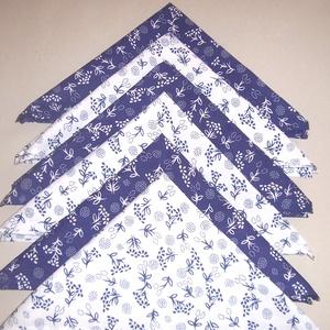 6 db textil szalvéta kékfestő mintás (textilcseppek) - Meska.hu