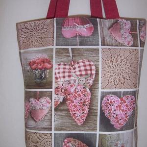 Szív mintás táska  (textilcseppek) - Meska.hu